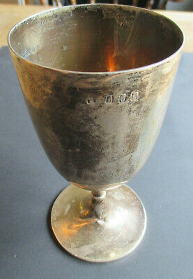 1899 Irish Solid Silver Hallamrked Goblet Cup Chalice-Dublin-Charles Lambe-180Gs