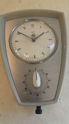 Vintage Smiths Wall Clock with timer , ref 14