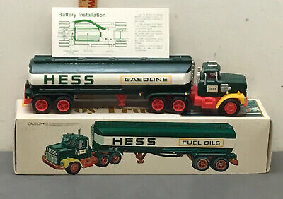 Vintage 1977 Original Hess Toy Truck Gasoline Fuel Oil Tanker W/ Box And Insert