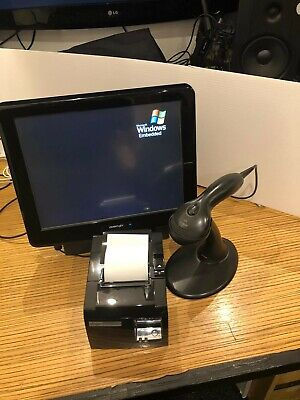 "Posiflex KS-6251N Plus - 15"" Touch Screen EPOS Till, Printer, and Scanner Bundle"