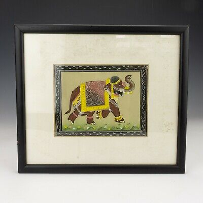 Vintage Hand Painted Watercolour Painting Of Indian Elephant Picture
