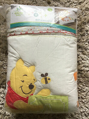Mothercare Disney Baby Winnie The Pooh Quilt For A Cot Or A Cot Bed. ***New ***
