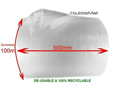 BUBBLEMAIL 500mm x 100m Small Bubble Wrap Roll - Cheapest on eBay