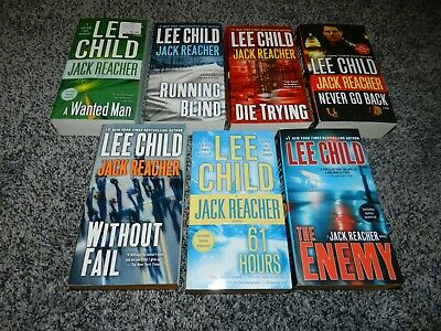 Lot 7 Softcover Lee Child Jack Reacher Series Books *Clean* Without Fail Enemy +