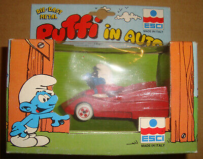 Puffi In Auto 0006 Puffo In Red Car Esci 1983 (The Smurfs)
