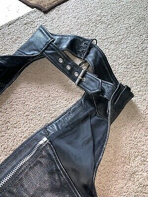 Leather Gallery Black Leather Chaps XXS