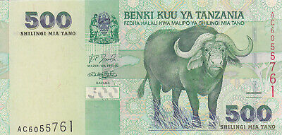 500 Shillings Extra Fine Crispy Banknote From Tanzania 2003  Pick-35