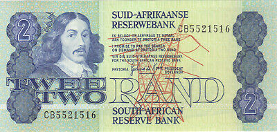 1983 2 Rand South African Currency Unc Banknote Note Money Bank Bill Cash Africa