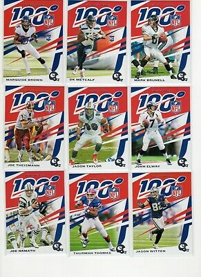 2019 Panini Chronicles NFL 100 Base Rookie Pick Card Player Complete Your Set