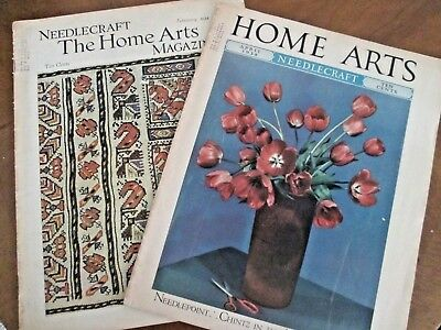 2 issues NEEDLECRAFT HOME ARTS MAGAZINE 1934 & 1938 Needlepoint Fashions Afgans