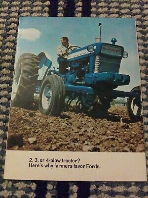 Ford 2000 3000 4000 5000 TRACTOR CATALOG BROCHURE.  2 3 or 5 Plow Tractor? 15 pg