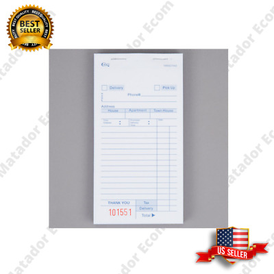 (50-Books) 3 Part White Carbonless Order Delivery Forms, 2500 Tickets