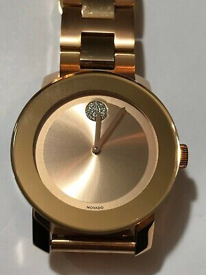 MOVADO Bold Rose Gold-Tone Stainless Steel Watch Item No. 3600086