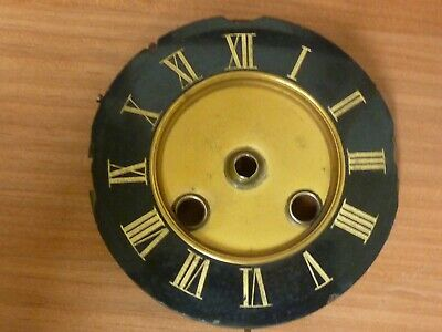 """Antique French Clock 4"""" Engraved Thick Slate Striking Dial & Falseplate (Te)"""