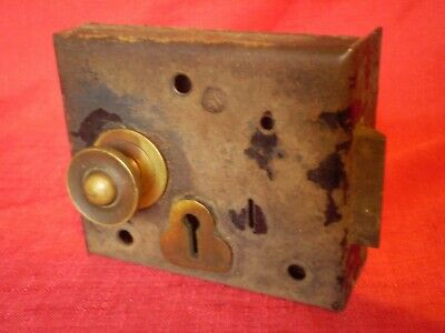 Antique/Victorian Metal & Brass Door Lock.....for Restoration...old Barn Find