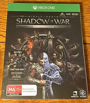 Middle-Earth Shadow of War Silver Edition - For Xbox One - New - Steelbook Case