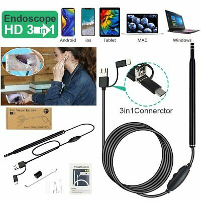 Ear Pick Wax Remover Cleaner Scope Endoscope Health PC USB HD Camera Care Tool