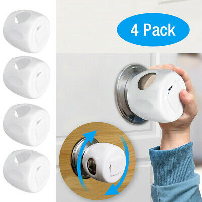 4xChildren Baby Safety Lock Door Knob Cover Child Proof Safe Kid Toddler Guard