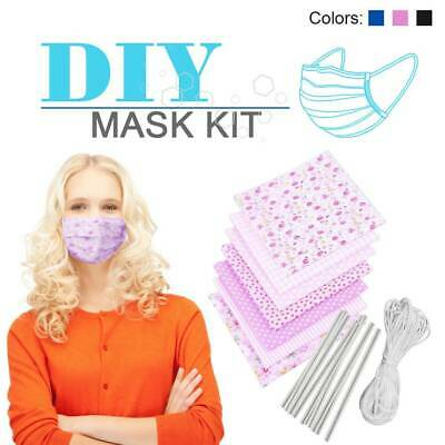 homemade Reusable Washable DIY Face Mask Kit  women's and men's sizes