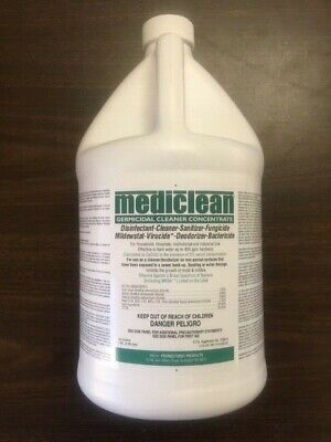 Mediclean Germicidal Cleaner Concentrate Gcc Disinfectant Virucide 1-Gallon