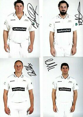 Eleven Hand Signed Colour Photos Of Leicestershire Ccc Players (Hand Signed)