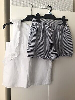 Girls F&F Top & Shorts Outfit Age 10-11 Years