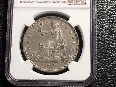 1877-S Trade Dollar NGC Au Details Ever So Lightly Cleaned