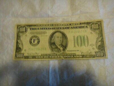 One Hundred Dollar Bill Federal reserve Note 1934