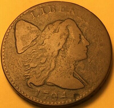 1794 Flowing Hair Large Cent S-32 Fine, R-1