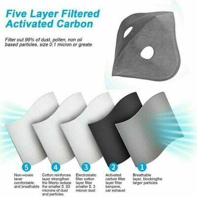 10-100PCS ACTIVATED CARBON FILTER for Cover Mask PM2.5 Pad Filter