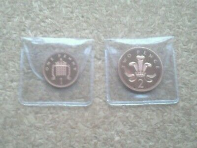 1998 PROOF 1p and 2p coins (You get both) FROM A ROYAL MINT PROOF SET.