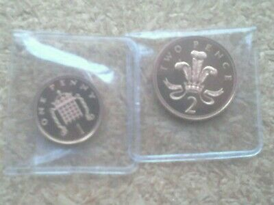 2003 PROOF 1p and 2p coins (You get both) FROM A ROYAL MINT PROOF SET.