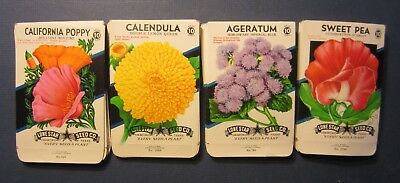 Wholesale Lot of 100 Old 1950's Vintage - FLOWER - SEED PACKETS - 410B - EMPTY