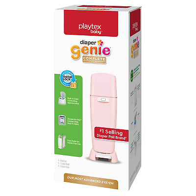 Playtex Diaper Genie Complete Pail With Built-In Odor Controlling Antimicrobial,