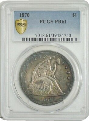 1870 Seated Liberty Dollar $ PR61 PCGS Secure 942799-1