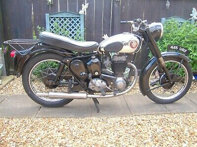BSA C12 250cc CLASSIC MOTORCYCLE PROJECT. UNRESTORED.