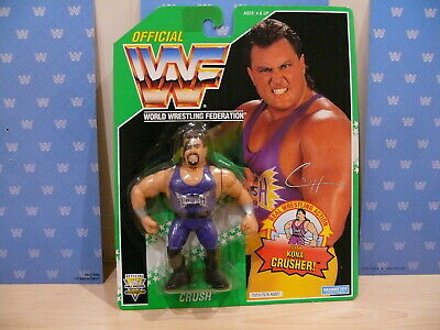 Wwf Hasbro Moc Vintage Wrestling Figure Series 11 Green Card Evil Crush Carded