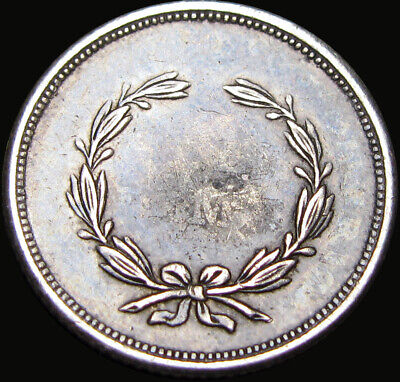 """Seated Liberty Half Dime Type Coin """"AU Love Token""""  Carved Art Silver #X189"""