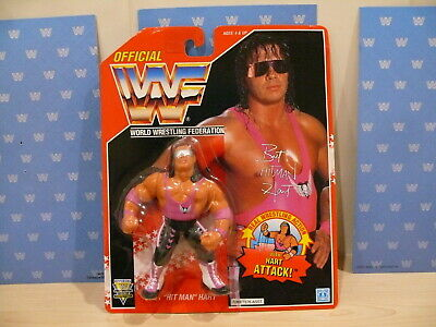 Wwf Hasbro Moc Vintage Wrestling Figure Series 8 Red Card Bret The Hitman Hart