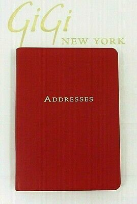 """Harrods Of London Address Book 5x7"""" Soft Flexible Cover Leather NEW Red"""