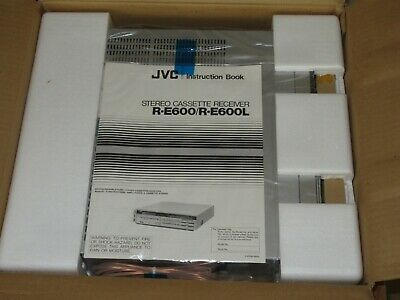 JVC R-E600 Vintage Stereo Receiver Amplifier with Cassette Deck New old Stock