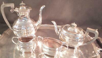 Rare Roberts & Belk Sheffield Sterling Coffee & Tea Service 4 Pcs 52 Toz. 1978