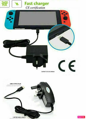 Fast Charging Charger Power Supply Adapter For Nintendo Switch & Switch Lite UK
