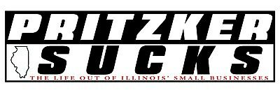 Illinois Pritzker Sucks Small Business Bumper Sticker