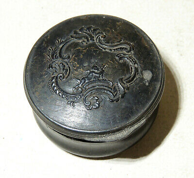 Antique 18th-19th Century SNUFF BOX Tortoise Shell Jewelry Trinket Patch Box