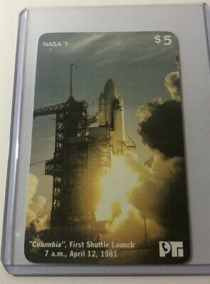 Columbia First Launch (4/12/1981) NASA #7 Collectible Prepaid Calling Card