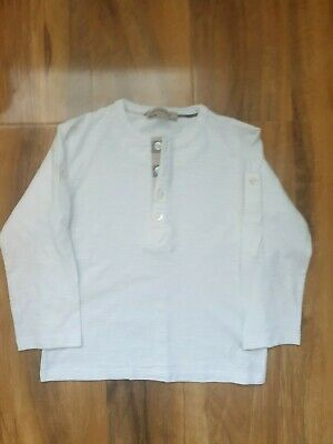 white burberry cotton long sleeved top aged 3T few Mark's on sleeves as show