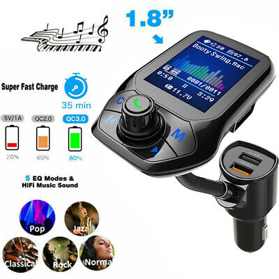 USB 5.0 AUX Cable CAR FM Transmitter Receiver 2-in-1 Wireless Audio Adapter AU