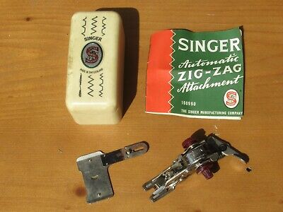 vintage SINGER 160990 automatic zig zag attachment boxed with instructions (461)