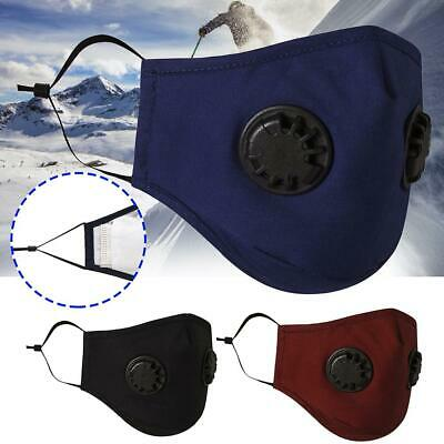 Washable PM2.5 Face Shield Mouth Muffle w/Filters Cover Anti Dust Air Pollution